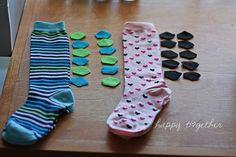 DIY calcetines dinosaurio