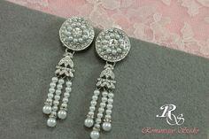 Art Deco Bridal Earrings Gatsby earrings by RomantiqueStudio, $45.00