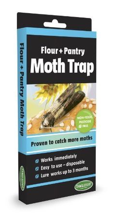 Tanglefoot 300000127 Flour & Pantry Moth Trap by Tanglefoot. $9.06. Easy to use. Sets up in seconds. Disposable when full. Catches 4 times more moths than comparable traps. Works Immediately. Lure lasts up to 3 months. Effective pesticide free trap. Trap Destructive Moths. Protect your food safely and effectively. The Flour and Pantry moth trap eliminates the number one stored product insect pest and it's destructive larvae