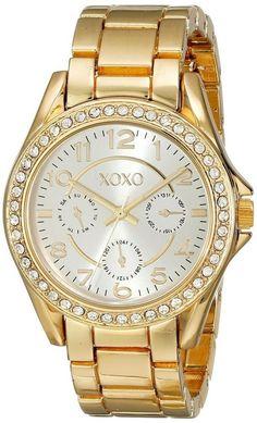 XOXO Watch Women's Watch XO178 Analog Display Gold Tone Bracelet Fashion Watch