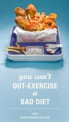 You can't out-exercise a bad #diet. Sooner or later, it will catch up with you. #eatnaked