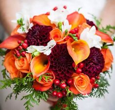 Bridal bouquet option (groom boutonniere would match) fall wedding boquets / fall wedding boquette / fall wedding koozie / fall wedding flowers / fall wedding pallettes Fall Bouquets, Fall Wedding Bouquets, Fall Wedding Colors, Burgundy Wedding, Wedding Blue, Autumn Wedding, Wedding Boquette, Wedding Arbors, Wedding Summer