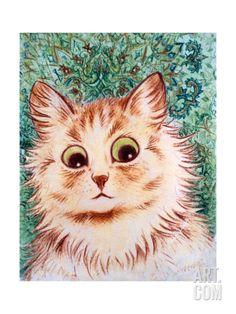 Kaleidoscope Cats II Giclee Print by Louis Wain at Art.com