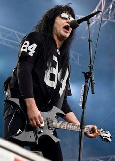 Blackie Lawless of W.A.S.P rocks another festival... #wasplive #blackielawless #espguitars