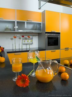 #Kitchen Idea Of The Day: A Gallery Of Modern Orange Kitchens. Part 98