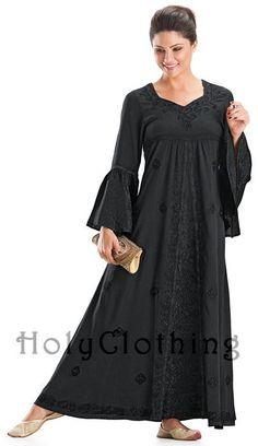 Liana Princess Neck Renaissance Medieval A-Line Gown Dress 2X - 2X - Shop by Size - Dresses
