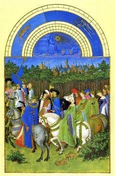 May - Les Tres Riches Heures du duc de Berry, Limbourg brothers c.1416