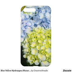 Blue Yellow Hydrangea iPhone 7 case savvy matte
