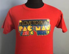 80s Vintage Pac-Man Midway video game T-Shirt  MEDIUM