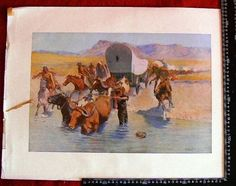#2015A WALL DECOR BY FREDERIC REMINGTON ARTIST PROOF 1908 $750 SIZE 15.5 X 11 IN