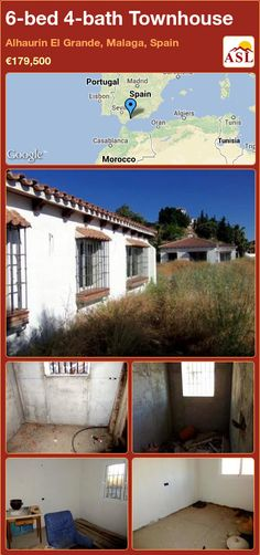 Townhouse for Sale in Alhaurin El Grande, Malaga, Spain with 6 bedrooms, 4 bathrooms - A Spanish Life Malaga Spain, Lisbon, Morocco, Townhouse, Madrid, Bathrooms, Spanish, Layout, The Incredibles