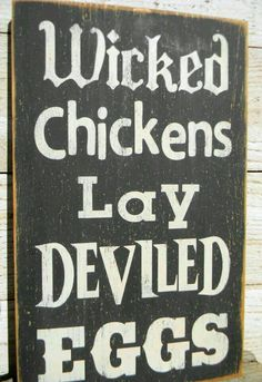 Deviled Eggs Farm sign  Visit & Like our Facebook page! https://www.facebook.com/pages/Rustic-Farmhouse-Decor/636679889706127