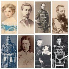 Czar Alexander and czarina Maria's eight children