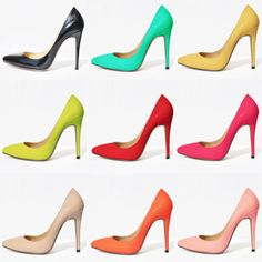 Awww sue me . I like bright coloured heels....  BEAUTIFUL eye catching candy colours!!!