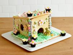 Love Gingerbread houses? Make a Sugar-Cookie Easter Bunny House : Food Network
