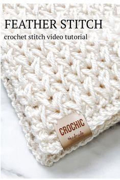Crochet Stitches Free, Crochet Motifs, Afghan Crochet Patterns, Crochet Basics, Knit Or Crochet, Crochet Crafts, Crochet Hooks, Knitting Patterns, Crochet Afghan Stitch