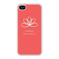 Add a little tranquility to your day with the Lotus iPhone case!