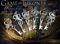Game of Thrones Set Keys of the Kingdoms Set by ArtbyStarlaMoore, $45.00