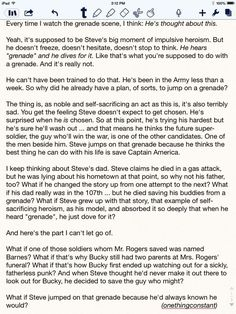 Headcanon about why Steve jumped on the grenade in The First Avenger. <==That scene is one of the saddest and greatest parts of the movie. That scene was the one that made me love Steve Rogers.<<< headcanon accepted so bad. the feels are flowing Dc Memes, Marvel Memes, Marvel Avengers, Marvel Comics, Avengers Memes, Avengers Poster, Marvel Funny, Captain Marvel, Jon Snow