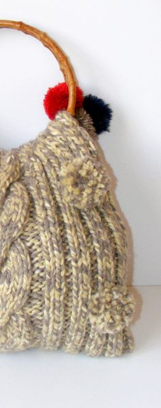 beige knitted bagfashionspring trendsfor hergift by seno on Etsy, $65.00