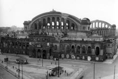 Ruins of the Anhalter Bahnhof after WWII, Berlin