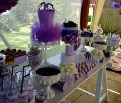 Hi, did you know purple wedding dessert buffet is one of the hottest topics in this category? Dessert Bar Wedding, Candy Bar Wedding, Wedding Desserts, Wedding Table, Dessert Buffet Table, Buffet Tables, Buffet Ideas, Purple Candy Buffet, Sweet 16 Party Themes