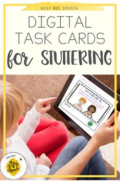 This speech therapy digital resource is perfect for teletherapy or used with your IPad. The cards are great for stuttering practice during distance learning or at school.