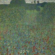 Klimt, Gustav - Field of Poppies - Tapetit / tapetti - Photowall
