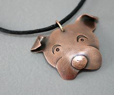 Copper Dog Pendant - Dog Jewelry -  Pet Jewelry for Animal Lovers -Handmade Dog Jewelry for Men Women and Kids
