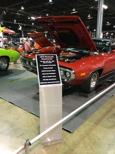Muscle Car Corvette Nationals Displays Car Show Signs - Car show signs