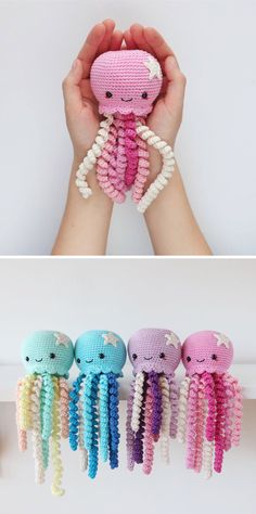 Cute Crochet Octopus toy by Lil Crochet Love