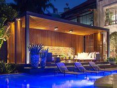 Pergolados de Madeira - Plena Patio Kitchen, Outdoor Living Rooms, Exterior, Woodworking Projects Diy, Ibiza, Sun Lounger, Patio Decks, Outdoor Patios, Architecture