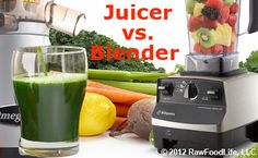 """Masticating Blender vs Juicer (good points for both).......... Also, someone stated """"Strain if you have cancer or another disease your body is fighting. That way the body gets the hit of nutrients, without using energy on digestion, when that energy can be used to heal the disease."""""""