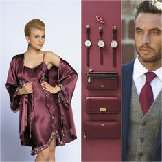 OKTAVIA + POPPEA #poland #polska #nightwear #bathrobe #pijama #maroon #groom #blonde #unikat #underwear #lingerie #oktavia #poppea