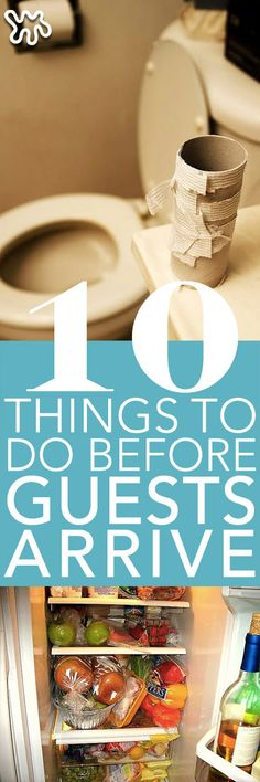 Here's a list of 10 things to do before guests come over that will help make their stay memorable for all the right reasons! Over the years there's little things we've noticed while attending parties and hosting our own that make guests feel more comfortable while they're in your space. There's also a few things that will help you be prepared while you have extra folks in your home, check out the list below to see what we mean!