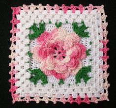 crochet irish rose granny square | Recent Photos The Commons Getty Collection Galleries World Map App ...