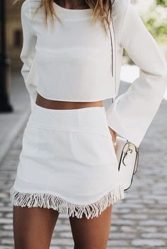 White Two piece outfit