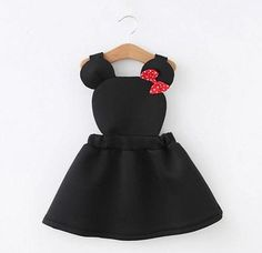 Minnie Mouse toddler jumper dress by HarpersChicCloset on Etsy