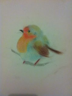 This drawing was done using pastels. It was winter at the time and it felt appropriate to draw a robin.