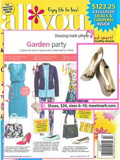.#mark's No Time Flat #Shoe featured in All You Magazine  Order at www.youravon.com/LisaHolmesElkihel