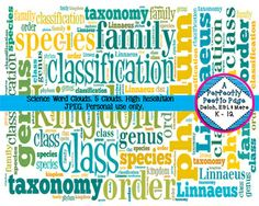 #Science #Word #Clouds for the upper grades ~ biology, botany, cells, taxonomy, and zoology! $ From:  A Perfectly Poetic Page