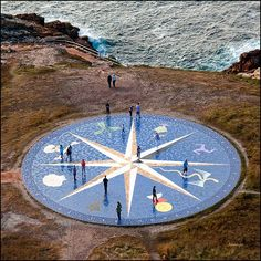 La Rosa de los Vientos, in A Coruña is a compass rose that represents the cardinal points in front of the Tower of Hercules, the oldest working lighthouse in the world where we can get the best views over the city and sea. Cool Places To Visit, Places To Travel, Oh The Places You'll Go, Parks, Places In Spain, Seville Spain, Basque Country, Road Trip, Camping World