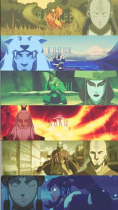 The Legend of Korra: Avatars. I wanna see more Yangchen and Kuruk