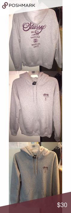Women's Stussy Hoodie Stussy Hoodie from Zumiez. Only worn a handful of times and in great condition. Writing is in maroon color. Stussy Sweaters