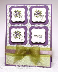 DeNami Elegant Congrats card by Pattie  Could easily be a b'day card.