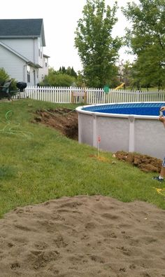 Above Ground Pool Edging Ideas re landscaping around base of intex ultra frame pools Putting Aboveground Pool In The Ground Messy Above Ground Pool Pool Designs Decorating