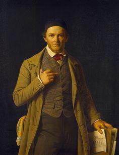 1849 Constantin Hansen - Portrait of Gottlieb Bindesbøll