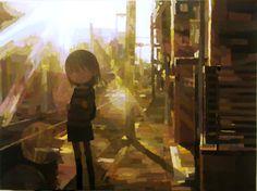 Shintaro Ohata - ''Sun'', 2010,  acrylic on canvas