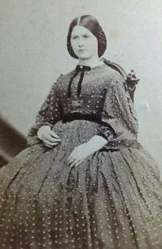 How women dressed in the 1850s, possibly pregnant