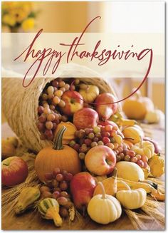 Thanks Aplenty - Happy Thanksgiving Greeting Cards from Treat.com